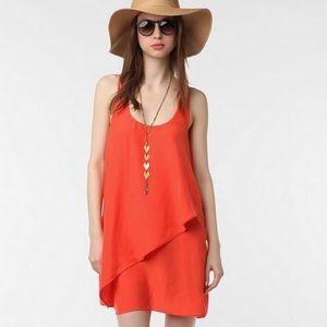 Silence + Noise orange dress
